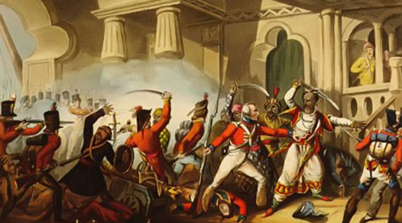 Storming of Seringapatam under General Baird and death of Tipu Sultan, May 4, 1799, in 3rd Mysore War