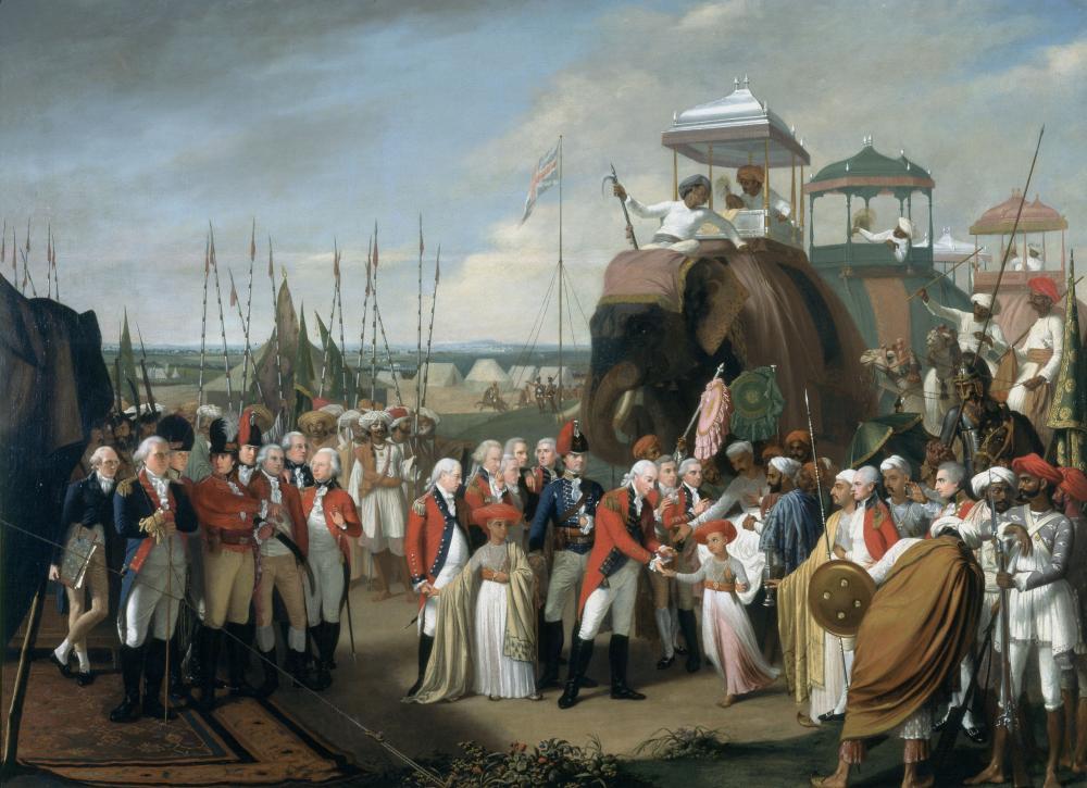 Surrender_of_Tipu_Sultan Tipu's Sons Treaty of Seginapatam